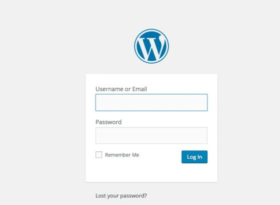 login screen wordpress